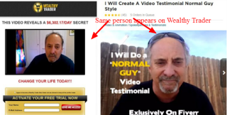 The wealthy trader software and fake testimonials